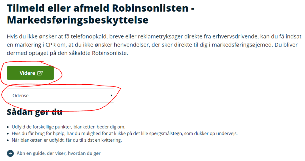 Tilmeld Robinsonlisten 2